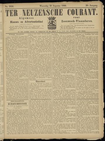 Ter Neuzensche Courant. Algemeen Nieuws- en Advertentieblad voor Zeeuwsch-Vlaanderen / Neuzensche Courant ... (idem) / (Algemeen) nieuws en advertentieblad voor Zeeuwsch-Vlaanderen 1890-08-20