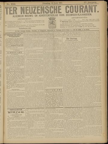 Ter Neuzensche Courant. Algemeen Nieuws- en Advertentieblad voor Zeeuwsch-Vlaanderen / Neuzensche Courant ... (idem) / (Algemeen) nieuws en advertentieblad voor Zeeuwsch-Vlaanderen 1917-06-12