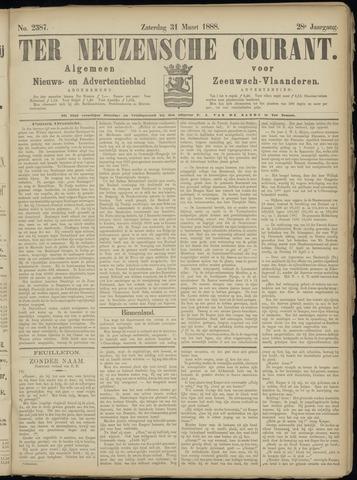 Ter Neuzensche Courant. Algemeen Nieuws- en Advertentieblad voor Zeeuwsch-Vlaanderen / Neuzensche Courant ... (idem) / (Algemeen) nieuws en advertentieblad voor Zeeuwsch-Vlaanderen 1888-03-31