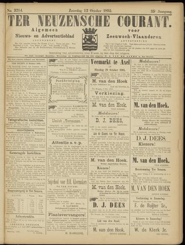 Ter Neuzensche Courant. Algemeen Nieuws- en Advertentieblad voor Zeeuwsch-Vlaanderen / Neuzensche Courant ... (idem) / (Algemeen) nieuws en advertentieblad voor Zeeuwsch-Vlaanderen 1895-10-12