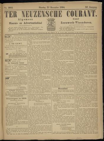 Ter Neuzensche Courant. Algemeen Nieuws- en Advertentieblad voor Zeeuwsch-Vlaanderen / Neuzensche Courant ... (idem) / (Algemeen) nieuws en advertentieblad voor Zeeuwsch-Vlaanderen 1894-12-25
