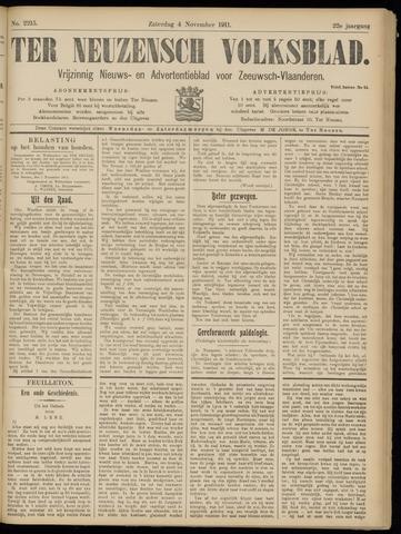 Ter Neuzensch Volksblad. Vrijzinnig nieuws- en advertentieblad voor Zeeuwsch- Vlaanderen / Zeeuwsch Nieuwsblad. Nieuws- en advertentieblad voor Zeeland 1911-11-04