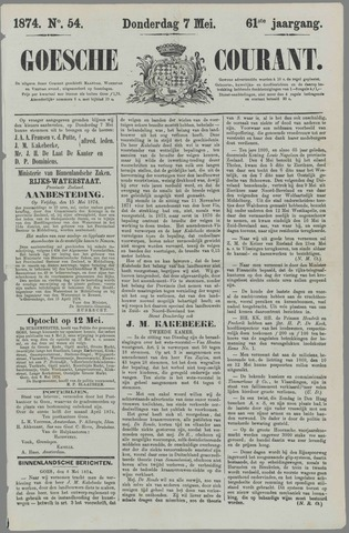 Goessche Courant 1874-05-07