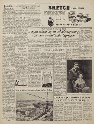 Watersnood documentatie 1953 - kranten 1953-04-01