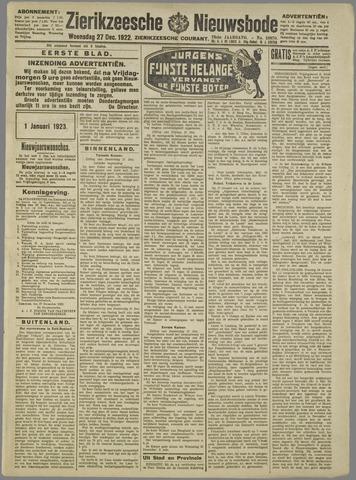 Zierikzeesche Nieuwsbode 1922-12-27