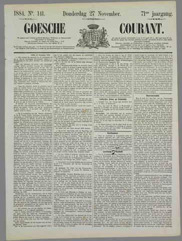 Goessche Courant 1884-11-27