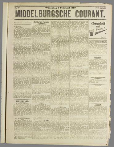 Middelburgsche Courant 1927-02-09