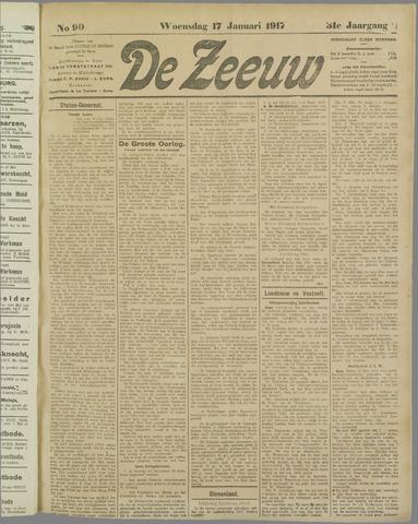 De Zeeuw. Christelijk-historisch nieuwsblad voor Zeeland 1917-01-17