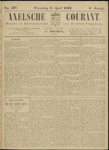 Axelsche Courant 1892-04-06