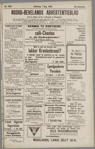 Noord-Bevelands Nieuws- en advertentieblad 1926-08-07