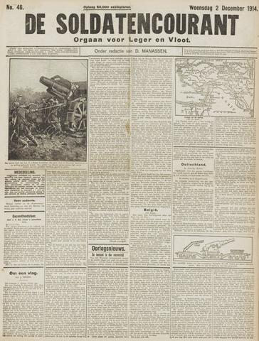 De Soldatencourant. Orgaan voor Leger en Vloot 1914-12-02