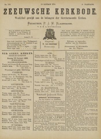 Zeeuwsche kerkbode, weekblad gewijd aan de belangen der gereformeerde kerken/ Zeeuwsch kerkblad 1890-01-18