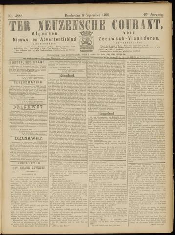 Ter Neuzensche Courant. Algemeen Nieuws- en Advertentieblad voor Zeeuwsch-Vlaanderen / Neuzensche Courant ... (idem) / (Algemeen) nieuws en advertentieblad voor Zeeuwsch-Vlaanderen 1906-09-06