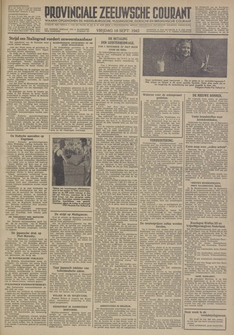 Provinciale Zeeuwse Courant 1942-09-18