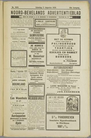 Noord-Bevelands Nieuws- en advertentieblad 1929-08-17