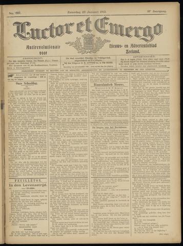 Luctor et Emergo. Antirevolutionair nieuws- en advertentieblad voor Zeeland / Zeeuwsch-Vlaanderen. Orgaan ter verspreiding van de christelijke beginselen in Zeeuwsch-Vlaanderen 1913-01-25