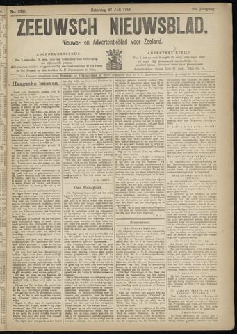 Ter Neuzensch Volksblad. Vrijzinnig nieuws- en advertentieblad voor Zeeuwsch- Vlaanderen / Zeeuwsch Nieuwsblad. Nieuws- en advertentieblad voor Zeeland 1918-07-27