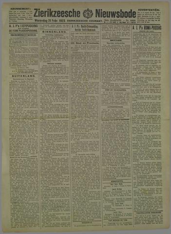 Zierikzeesche Nieuwsbode 1923-02-21