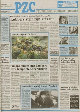 Provinciale Zeeuwse Courant 1992-01-29