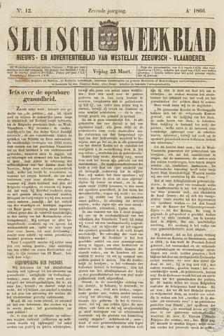Sluisch Weekblad. Nieuws- en advertentieblad voor Westelijk Zeeuwsch-Vlaanderen 1866-03-23