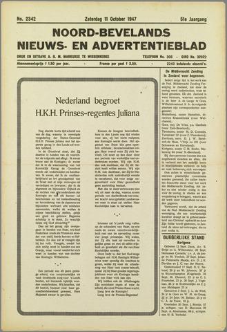 Noord-Bevelands Nieuws- en advertentieblad 1947-10-11