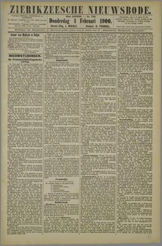 Zierikzeesche Nieuwsbode 1900-02-01