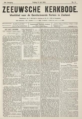 Zeeuwsche kerkbode, weekblad gewijd aan de belangen der gereformeerde kerken/ Zeeuwsch kerkblad 1925-07-31
