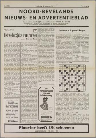 Noord-Bevelands Nieuws- en advertentieblad 1974-09-12