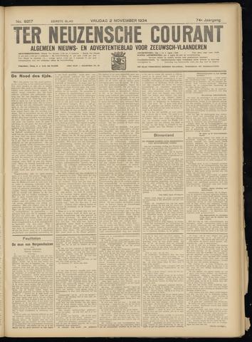 Ter Neuzensche Courant. Algemeen Nieuws- en Advertentieblad voor Zeeuwsch-Vlaanderen / Neuzensche Courant ... (idem) / (Algemeen) nieuws en advertentieblad voor Zeeuwsch-Vlaanderen 1934-11-02