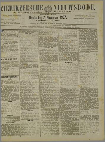 Zierikzeesche Nieuwsbode 1907-11-07