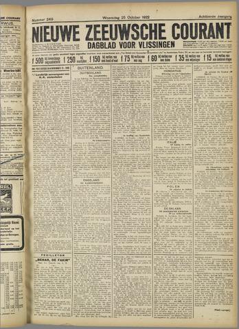 Nieuwe Zeeuwsche Courant 1922-10-25
