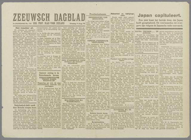 Zeeuwsch Dagblad 1945-08-14