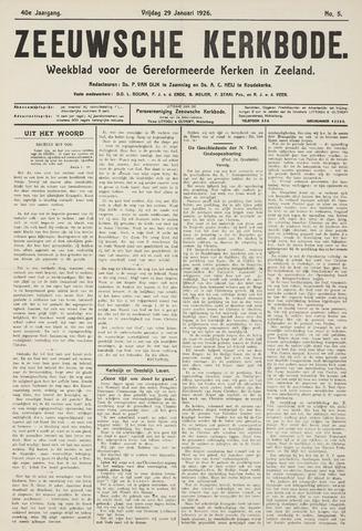 Zeeuwsche kerkbode, weekblad gewijd aan de belangen der gereformeerde kerken/ Zeeuwsch kerkblad 1926-01-29
