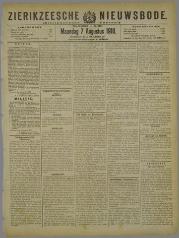 Zierikzeesche Nieuwsbode 1916-08-07