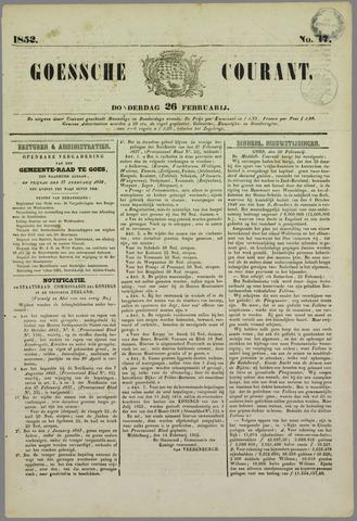 Goessche Courant 1852-02-26