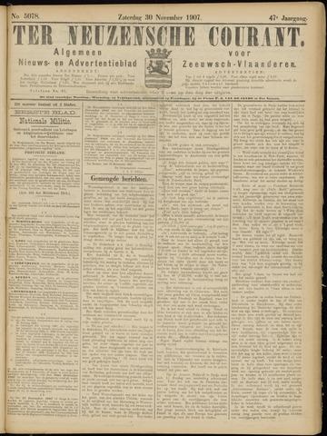 Ter Neuzensche Courant. Algemeen Nieuws- en Advertentieblad voor Zeeuwsch-Vlaanderen / Neuzensche Courant ... (idem) / (Algemeen) nieuws en advertentieblad voor Zeeuwsch-Vlaanderen 1907-11-30