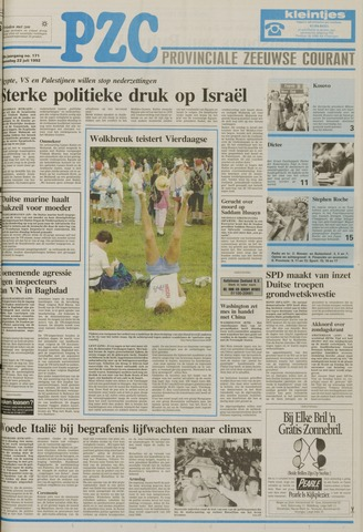 Provinciale Zeeuwse Courant 1992-07-22