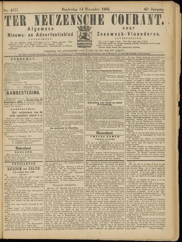 Ter Neuzensche Courant. Algemeen Nieuws- en Advertentieblad voor Zeeuwsch-Vlaanderen / Neuzensche Courant ... (idem) / (Algemeen) nieuws en advertentieblad voor Zeeuwsch-Vlaanderen 1905-12-14