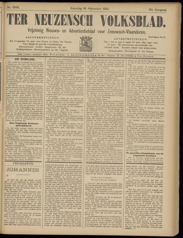 Ter Neuzensch Volksblad. Vrijzinnig nieuws- en advertentieblad voor Zeeuwsch- Vlaanderen / Zeeuwsch Nieuwsblad. Nieuws- en advertentieblad voor Zeeland 1914-09-26