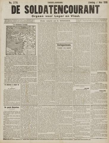 De Soldatencourant. Orgaan voor Leger en Vloot 1916-05-07