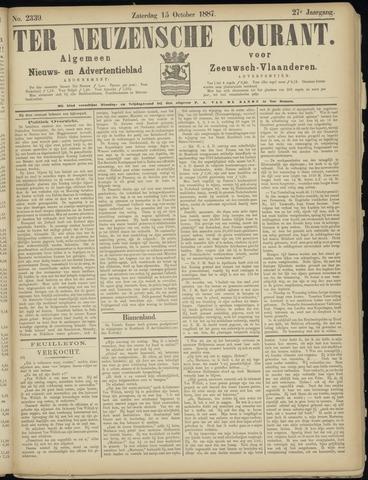 Ter Neuzensche Courant. Algemeen Nieuws- en Advertentieblad voor Zeeuwsch-Vlaanderen / Neuzensche Courant ... (idem) / (Algemeen) nieuws en advertentieblad voor Zeeuwsch-Vlaanderen 1887-10-15