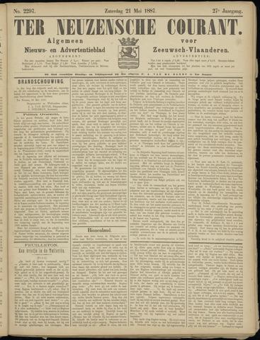 Ter Neuzensche Courant. Algemeen Nieuws- en Advertentieblad voor Zeeuwsch-Vlaanderen / Neuzensche Courant ... (idem) / (Algemeen) nieuws en advertentieblad voor Zeeuwsch-Vlaanderen 1887-05-21