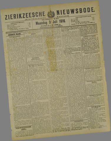 Zierikzeesche Nieuwsbode 1916-07-03