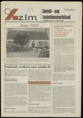 Zeeuwsch landbouwblad ... ZLM land- en tuinbouwblad 1981-07-17