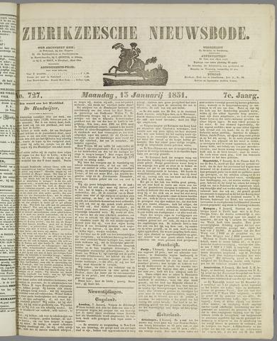 Zierikzeesche Nieuwsbode 1851-01-13