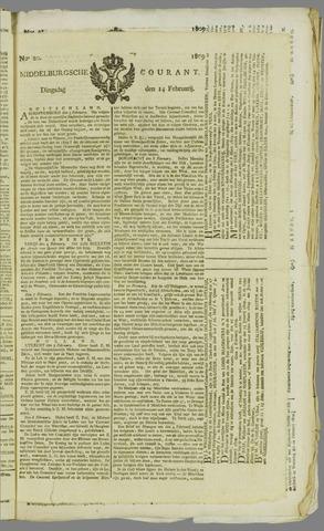 Middelburgsche Courant 1809-02-14