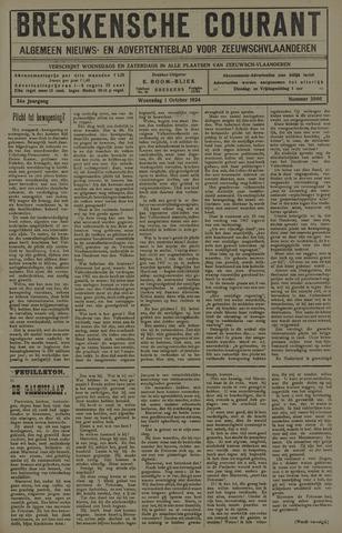 Breskensche Courant 1924-10-01