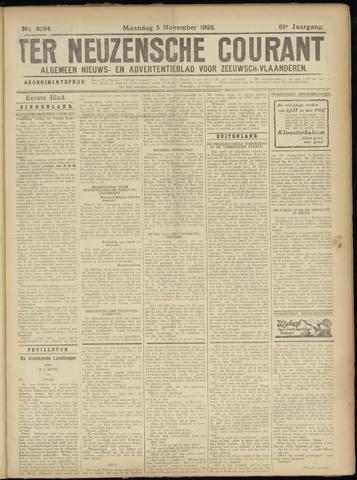 Ter Neuzensche Courant. Algemeen Nieuws- en Advertentieblad voor Zeeuwsch-Vlaanderen / Neuzensche Courant ... (idem) / (Algemeen) nieuws en advertentieblad voor Zeeuwsch-Vlaanderen 1928-11-05