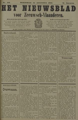 Nieuwsblad voor Zeeuwsch-Vlaanderen 1900-08-15