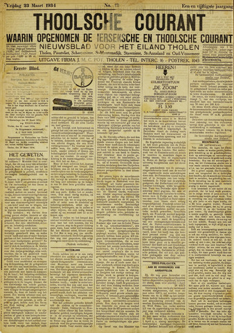 Ierseksche en Thoolsche Courant 1934-03-23